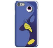 Blue ornamental fish cartoons iPhone Case/Skin
