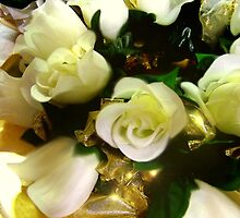 White Roses I - Wedding Table by Cynthia Chronister