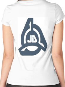 JD Women's Fitted Scoop T-Shirt