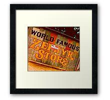 Zepher, Texas Framed Print