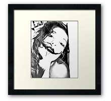 Sad Smile Framed Print