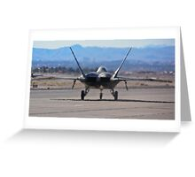 F-22 Raptor taxiing Greeting Card