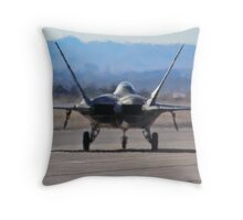 F-22 Raptor taxiing Throw Pillow