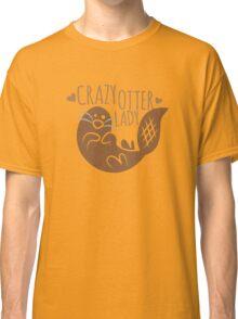 Crazy otter lady Classic T-Shirt