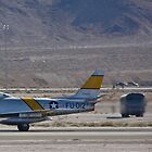 F-86 Sabre taking off by Henry Plumley