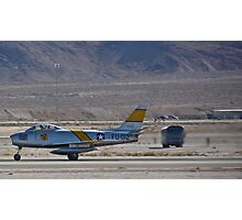 F-86 Sabre taking off Photographic Print