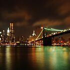 Brooklyn Bridge over Manhattan  by cvrestan