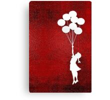 The Balloons Girls Canvas Print