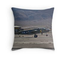 B-25 Mitchell landing  Throw Pillow