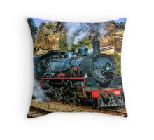 Zig Zag Railway - Steam Engine Throw Pillow