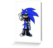 Swaggy Sonic Greeting Card