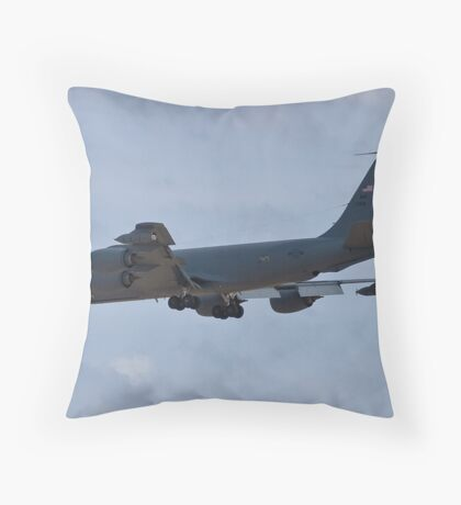 Side view of the KC-135 Stratotanker Throw Pillow