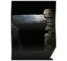 Burial Chamber in Fourknocks Passage Tomb, County Meath, Ireland Poster