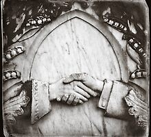 """ Clasped Hands "" ... Graveyard Adornments #63  by Malcolm Heberle"