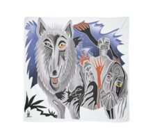 lobo and crow for stevo Scarf