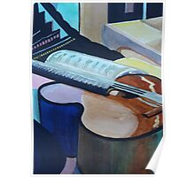 Guitar Study Abstract Poster