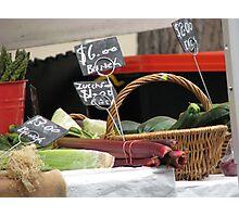 Vegetables for Sale - Rocks Market Sydney Australia Photographic Print