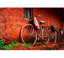 resting bicycles Photographic Print