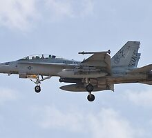 F/A-18 Hornet on approach by Henry Plumley