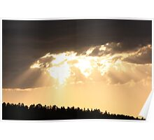 """Sunset on The Rosebud """"Sioux"""" Nation Poster"""