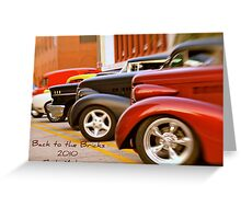 Back to the Bricks Classic Cars 2010 Greeting Card