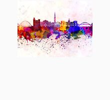 Newcastle skyline in watercolor background Unisex T-Shirt