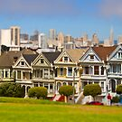 Painted Ladies in Miniature (Tilt Shift) by Barb White