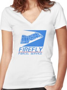 Firefly Parcel Service Women's Fitted V-Neck T-Shirt