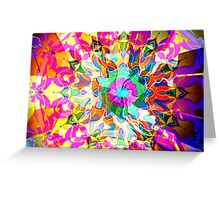 Bold Floral Color Blooms Greeting Card