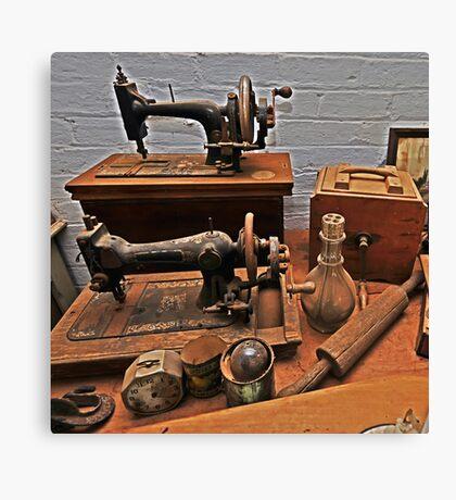 Vintage Sewing Machines Canvas Print