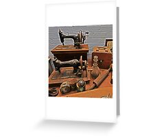 Vintage Sewing Machines Greeting Card