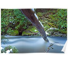 Hidden Falls Creek Velvet Blue Poster
