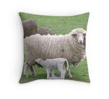 Lambing Throw Pillow