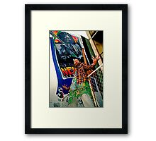 South of the Border.... Newtown graf Framed Print