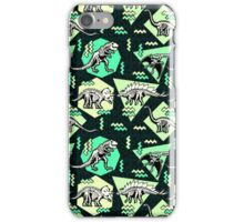 Neon Skeleton Dinosaur Pattern iPhone Case/Skin