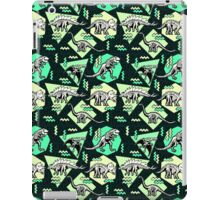 Neon Skeleton Dinosaur Pattern iPad Case/Skin