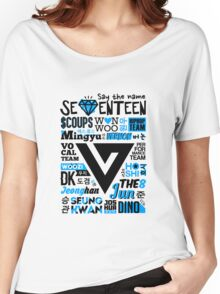 SEVENTEEN Collage Women's Relaxed Fit T-Shirt