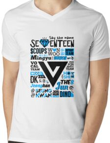 SEVENTEEN Collage Mens V-Neck T-Shirt