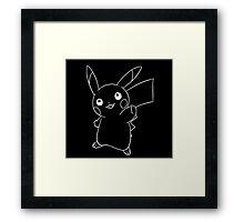 Line pikachu Framed Print