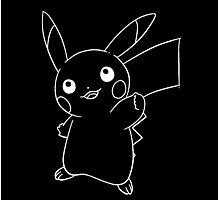 Line pikachu Photographic Print