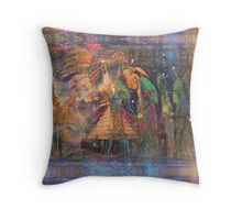 Ancient Lady Throw Pillow