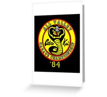 The Cobra Kai Karate Clan Greeting Card
