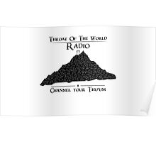Throat of the World Radio - Black on White Poster