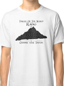 Throat of the World Radio - Black on White Classic T-Shirt