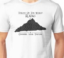 Throat of the World Radio - Black on White Unisex T-Shirt