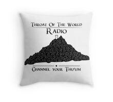 Throat of the World Radio - Black on White Throw Pillow