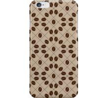 Decorative coffee bean pattern. Circles coffee grains. iPhone Case/Skin