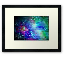 Abstract  & Flowers. Framed Print