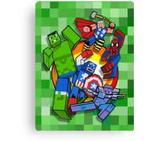 Cute Cube superheroes Group Canvas Print