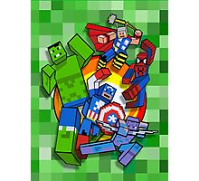 Cute Cube superheroes Group Photographic Print